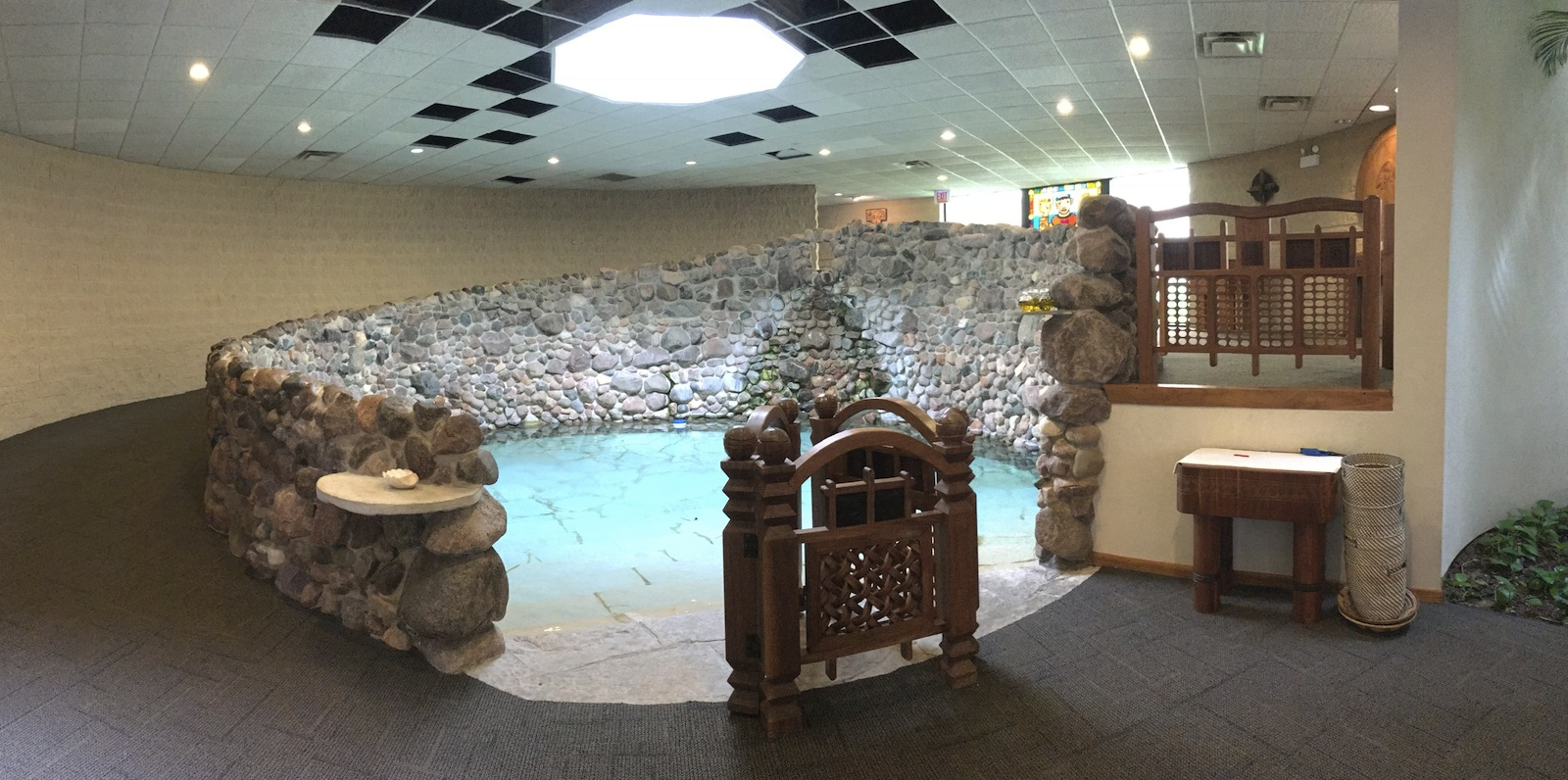 Saint Benedict the African large baptismal pool